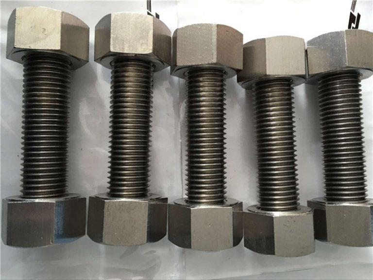 wesi nikel 400 en2.4360 kanthi benang rod kanthi fastener kacang