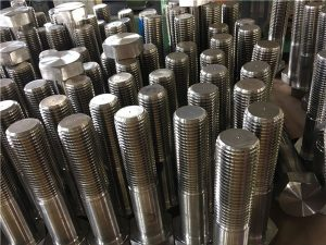 Bolts No.12-hex ISO4014 setengah benang A193 B8, B8M, B8T, B8C SS pengikat