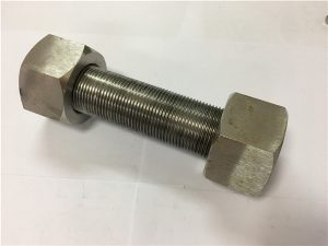 No.50-Incoloy 925 Stud bolt cw nut hex abot