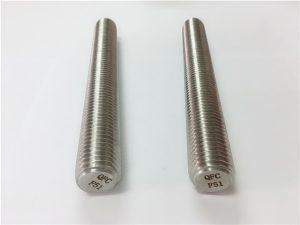 No.77 Duplex 2205 S32205 pengikat stainless steel DIN975 DIN976 batang benang F51