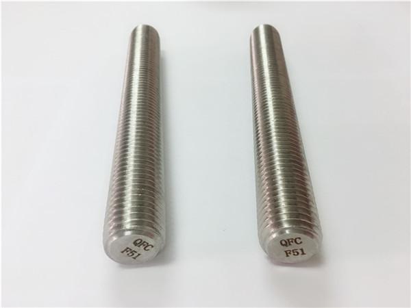 duplex2205 / s32205 stainless steel fasteners din975 / din976 rod Utas f51