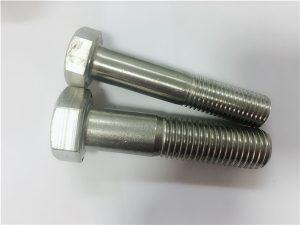 No.90-Kadhemen panas Kepala hex bolt a4-80 din931