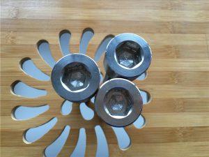 kualitas ASEM hex soket titanium gr2 ngawut-awut / bolt / nut / mesin cuci /